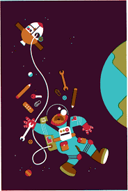 wijtze valkema s portfolio work illustration for het financieele dagblad for an essay on education mentioning the skills of the apollo 13 astronauts