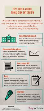 interview preparation tips for b school admission com interview preparation tips b school admission infographic