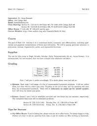 anna haensch math calculus  syllabus