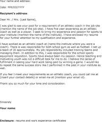 sample coaching resume cover letter coaching cover letter track coach cover letter