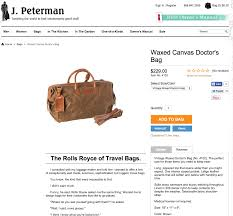 persuasive marketing techniques for product descriptions that sell waxed canvas doctor s bag the j peterman company