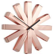 Купить <b>Часы настенные</b> кварцевые Umbra <b>Ribbon</b> 118070 <b>медь</b> ...