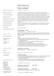 care assistant cv template patient care assistant duties