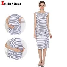<b>Emotion Moms Summer</b> Pregnant Dress Sleeveless Pregnancy ...