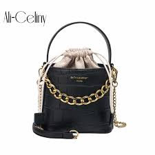<b>Drawstring Bucket Bag</b> For <b>Women</b> 2019 Mini PU Leather ...