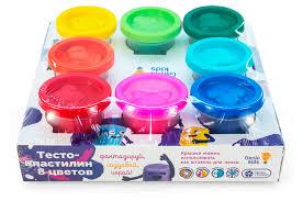 Купить <b>Тесто для лепки</b> 8 цветов <b>Genio</b> Kids Art TA1045 с ...
