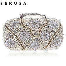 <b>SEKUSA Women</b> Evening Bags Chain Shoulder Messenger ...