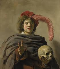 frans hals young man a skull c 1626 1628 national gallery london