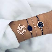 <b>LETAPI Bohemian</b> Arrow Knot Compass Cuff Bangle Bracelets ...