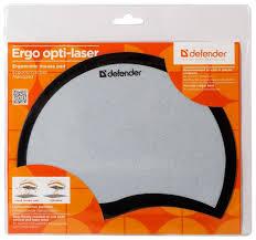Купить <b>Коврик Defender Ergo opti-laser</b> (50511 / 50513) черный по ...