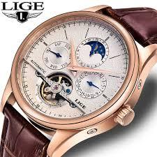 LIGE <b>Fashion Mens Watches</b> Top Brand Luxury WristWatch Quartz ...