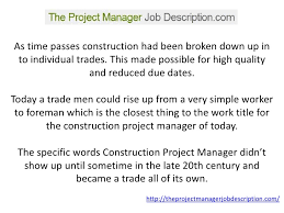 a project manager job description you    ll be able to understand