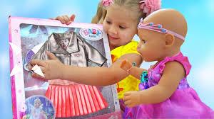 Диана как МАМА и новая <b>Одежда для куклы</b> Беби Бон - YouTube