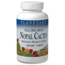 Planetary Formula <b>Nopal Cactus</b>, <b>Full Spectrum</b> 1000 mg, 60 Tablets