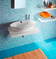 blue bathroom tile ideas:  showing
