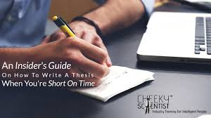 An Insider     s Guide On How To Write A Thesis When You     re Short On     Lear how to write a thesis   Cheeky Scientist   guide to writing a PhD thesis