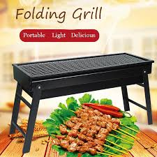 <b>Large BBQ Barbecue Grill Folding Portable Charcoal</b> Camping ...