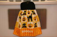 <b>HALLOWEEN</b> - <b>REVERSIBLE Double Layered</b> Hanging Towel ...