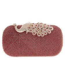 sparkling animal women luxury hollow out evening bag peacock stones crystal rhinestones diamond wedding clutch handbag
