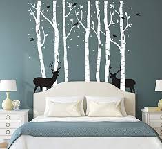 Fymural Forest and Deers Tree <b>Wall</b> Stickers Art <b>Mural Wallpaper</b>