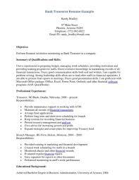 resume job description for a bank teller good resume pattern gallery of teller job description
