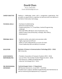 sample resume for fresh graduates it professional jobsdb hong kong sample resume format 2
