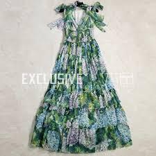 <b>SVORYXIU Runway Designer</b> Summer Maxi Dress Women's Sexy V ...