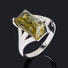 Купить Кольцо <b>унакит</b> ЮАР (<b>серебро</b> 925 пр. родир. бел.) размер ...