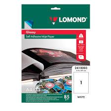 Купить Фотобумага <b>LOMOND для струйной печати</b>, А4, 85 г/м2 ...