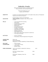 dental assistant resume sample no experience dental assistant resume sample no experience