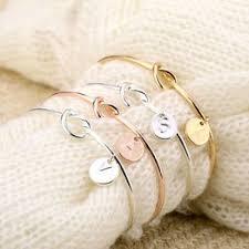 Personalized 26 Letters Initial Knot Pendant Bracelet Bangle ... - Vova