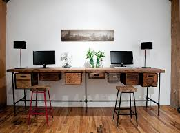 reclaimed wood and vintage crates used to create a lovely diy work desk diy home office desk recycled