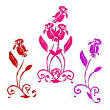 Collection Of <b>Beautiful Rose (red</b>, Pink, Lilac Color), Ornament ...