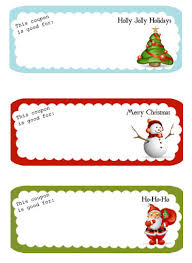 Best Photos of Printable Christmas Coupon Book Template ... Blank Christmas Coupon Templates Printable