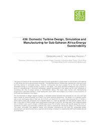 (PDF) Domestic Turbine Design, Simulation and Manufacturing for ...