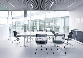 interior awesome office meeting room decoration with stunning rectangular conference table in white color and awesome office conference room