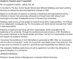 response to former sauder school dean michael goldberg jennifer response to former sauder school dean michael goldberg