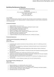 maintenance resume examples  seangarrette comaintenance resume examples