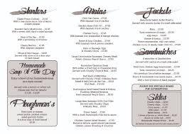 food the new bell inn winter menu page 2