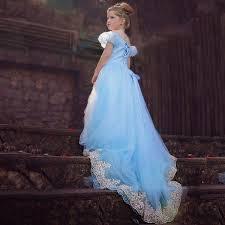 <b>Cinderella long</b> Dress Girls costume maxi party lace dress ...