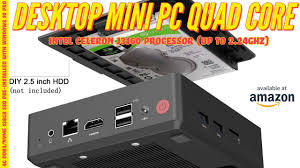 Desktop <b>Mini PC</b> Quad-Core Intel <b>Celeron</b> Windows 10 pro - YouTube