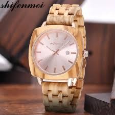 <b>Shifenmei Wood Men's</b> Quartz Watches Top Brand Luxury Men ...