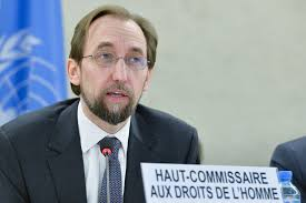 Image result for Zeid Ra'ad Al Hussein, the UN High Commissioner for Human Rights,