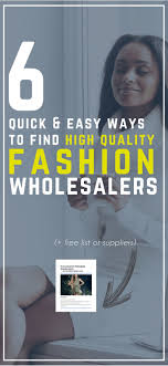 6 Ways To Find <b>High Quality</b> Boutique <b>Wholesale</b> Clothing Vendors ...