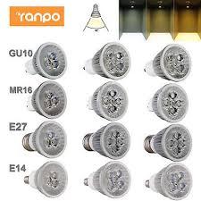 Dimmable <b>LED</b> Spotlight <b>Bulbs GU10</b> MR16 <b>E27</b> E14 9W 12W 15W ...