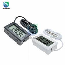 <b>LCD Digital Thermometer 1M</b> Cable Fridge Freezer Thermograph ...