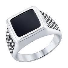 <b>Кольцо</b> из чернёного серебра с <b>ониксом</b> SOKOLOV – купить в ...