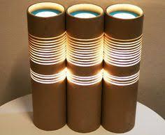 lighting cardboard tubes