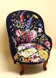 flowers on black needlepoint chairs fantastic chair custom designed by marie barber this would spice up a room as an little accent perhaps a bedroom bedroombreathtaking eames office chair chairs cad