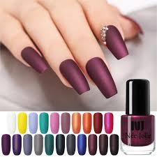 <b>NEE JOLIE 3.5ml Matting</b> Nail Polish Black Color Pink Nail Art Oily ...